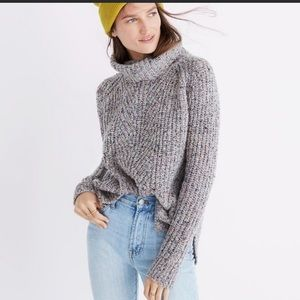 Madewell Colorfleck Knit Turtle neck size XS